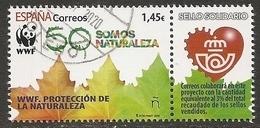 2020-ED. 5401 -SELLO SOLIDARIO. WWF. Protección De La Naturaleza- USADO - 1931-Oggi: 2. Rep. - ... Juan Carlos I
