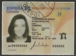 2020-ED. 5400 -Efemérides. 75 Aniversario Decreto De Creación D.N.I- USADO - 1931-Oggi: 2. Rep. - ... Juan Carlos I