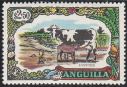 Anguilla 1970 MH Sc #112 $2.50 Cow, Goat Livestock - Anguilla (1968-...)