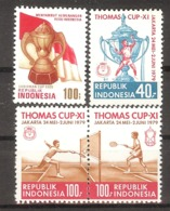 INDONESIA  Sport(batbinton) Set 4 Stamps   MNH - Indonesia