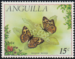 Anguilla 1971 MH Sc #124 15c Junonia Lavinia Butterflies - Anguilla (1968-...)