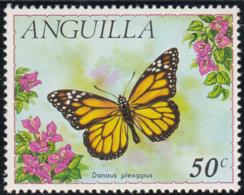 Anguilla 1971 MH Sc #126 50c Danaus Plexippus Butterflies - Anguilla (1968-...)