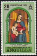 Anguilla 1971 MNH Sc #132 20c Ansidei Madonna Christmas - Anguilla (1968-...)