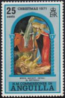 Anguilla 1971 MNH Sc #133 25c Mystic Nativity Christmas - Anguilla (1968-...)