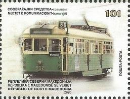 NMK 2020-10 TRAM, NORTH MACEDONIA. 1v, MNH - Macedonia