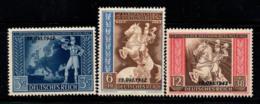 Empire Allemand 1942 Mi. 823-825 Neuf ** 100% Surimprimé - Deutschland