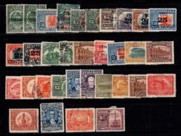 Guatemala 1920-26 Oblitéré 100% Surimprimé Monument, Personnalité - Guatemala