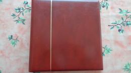 Reliure Supra Yvert Et Tellier. 22 Anneaux , Couleur Marron Avec 5 Pages Pour Timbres Adhésifs 2008/2009 - Albums & Binders