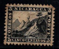 Nicaragua 1862 Mi. 2 Sans Gomme 20% 5 C, Paysage - Nicaragua