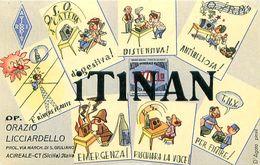 QSL IT1NAN - Orazio Licciardello Op. ACIREALE  CT Sicilia 1969 - D'Agata Pinxit - Radio Amateur