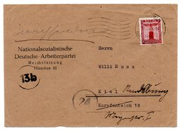 Brief NSDAP Reichsleitung München 1944 * - Deutschland