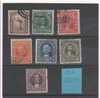 COSTA RICA 1910 YT N° 65 à 71 - Costa Rica