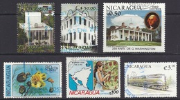 Nicaragua - Birth Of G. Washington House, Flowers, Map, Pope Visit, Trains GG1 1934, Buildings In Managua - Used - Nicaragua