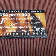 PHONECARD DANMARK 100 KR USED ONLY 50.000 EX MADE Rare - Denemarken