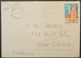 Tunisia - Cover To France 1978 Mosque 100m Solo - Tunisia