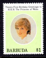 BARBUDA - 1982 DIANA BIRTHDAY 1st ISSUE $1 STAMP FINE MNH ** SG 624 - Antigua And Barbuda (1981-...)