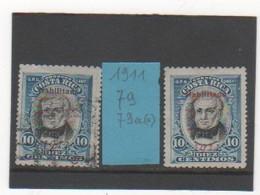 COSTA RICA 1911 YT N° 79-79a - Costa Rica