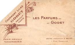 20-7926 : LES PARFUMS GODET. CHARMANT LILAS NEUILLY SUR SEINE. RUE GARNIER - Perfume Cards
