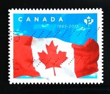 142. CANADA 2015 USED STAMP FLAGS - 1952-.... Règne D'Elizabeth II