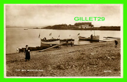 BURNTISLAND, SCOTLAND - THE BAY - ANIMATED WITH PEOPLES & BOATS - VALENTINE'S - REAL PHOTOGRAPH - - Fife