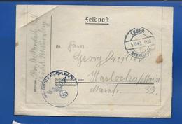 FELDPOST   LAGER  HAMMELBURG    Du  5/10/1943 + Cachet Avec Croix Et Aigle - Germany