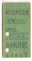 ANCIEN TICKET DE METRO PARIS BANLIEUE  C342 - Subway