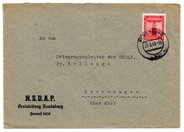 Brief NSDAP Kreisleitung Rendsburg 1943 * - Deutschland