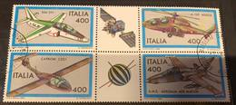 Italia Repubblica 1983  BLOCCO AEREI USATO Fra.1627 - 6. 1946-.. Republic