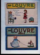 ALBUMS A COLORIER - AU LOUVRE PARIS - HISTOIRE D'UNE PETITE FILLE ET DE SA POUPEE - Livres, BD, Revues