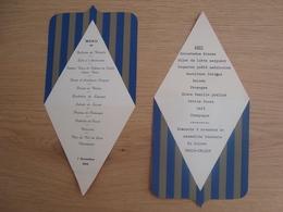 LOT DE 2 MENUS ASSEMBLEE GENERALE DE L'A.D.I.F DU LOIRET 1964 1965 - Menus