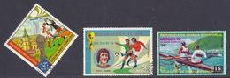 Guinea Equatorial - Football World Cup Championship, Munich '74, Dusseldorf The Final, Cruyff, '72 Regatta Race - Used - Equatoriaal Guinea