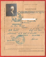 Francia France Rècèpissè 1931 Documento Identità Italiano In Francia Con Foto Thionville Commisariat De Police - Seals Of Generality
