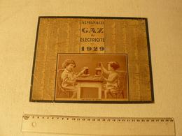 Calendrier Almanach Gaz Et électricite 1929. Une Petite Partie De Belote Par Des Enfants, Bière Et Cigarette.... - Big : 1921-40