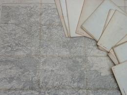 Carte 1/80 000 Etat-Major Coupure 34  REIMS- Révisée En 1896 - Topographical Maps