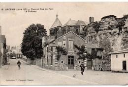 Ancenis 1914 - Octroi & Rue Du Pont - édit. Chapeau N°18 - Publicité Kub - Ancenis
