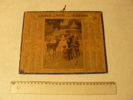 Calendrier Almanach Des Postes Et Télégraphes 1932. Illustrateur: JL Reuzom. Visite Au Jardin D'acclimatation. - Big : 1921-40