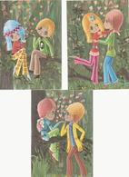 Lot 3 Cartes Postales Vintage-couple - Scènes & Paysages