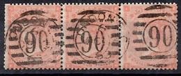 Grande-Bretagne YT N° 25 En Bande De Trois Timbres Oblitérés. Belle Oblitération. Premier Choix. A Saisir! - 1840-1901 (Victoria)