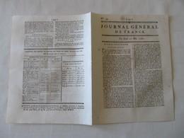BALEINES - CACHALOTS , DANS LES MAGASINS DU SIEUR AGET A DUNKERQUE - JOURNAL GENERAL DE FRANCE 1747. - Zeitungen