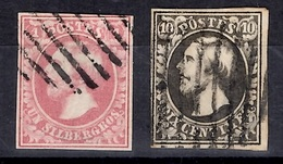 Luxembourg YT N° 1 Et N° 2 Oblitérés. Premier Choix. A Saisir! - 1852 Guillaume III