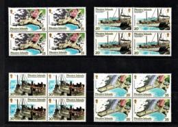 Pitcairn Islands 1978 Operation Palladium - Harbour Development Set As Blocks Of 4 MNH - Pitcairninsel