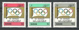 Sudan - 1994 - ( Intl. Olympic Committee Cent. ) - Complete Set - MNH (**) - Sudan (1954-...)