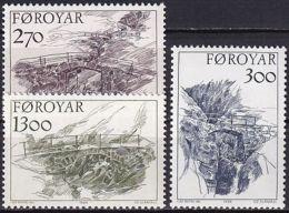 FÄRÖER 1986 Mi-Nr. 142/44 ** MNH - Islas Faeroes