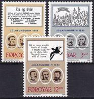 FÄRÖER 1987 Mi-Nr. 172/74 ** MNH - Islas Faeroes