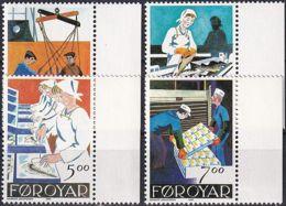 FÄRÖER 1990 Mi-Nr. 194/97 ** MNH - Islas Faeroes