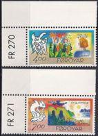 FÄRÖER 1995 Mi-Nr. 278/79 ** MNH - Islas Faeroes