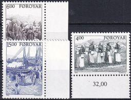 FÄRÖER 1995 Mi-Nr. 285/87 ** MNH - Islas Faeroes