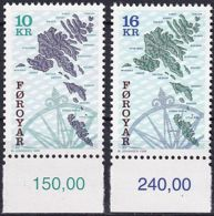 FÄRÖER 1996 Mi-Nr. 303/04 ** MNH - Islas Faeroes