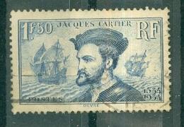 FRANCE - N° 297 Oblitéré - 4° Centenaire De L'arrivée De Jacques Cartier (1491-1557) Au Canada. - Francia