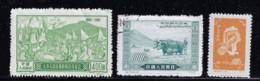CHINA PRC 1951-1952 SCOTT 124, 140 MINT, 134 CANCELLED - 1949 - ... People's Republic